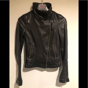 Mackage for Aritzia Biker Leather Jacket XXS